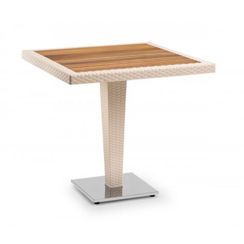 ANTARES 80x80 Τραπέζι με iroko top & alu base