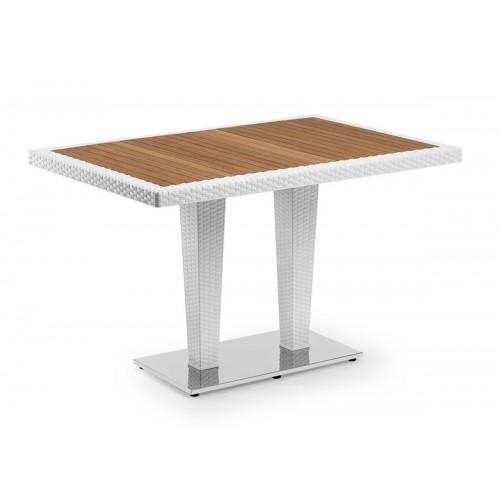 ANTARES 80x120 Τραπέζι με iroko top & alu base