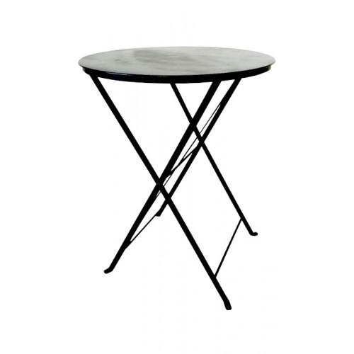 Τραπέζι Ø60 καφενείου μαύρο